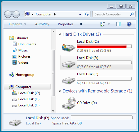 Data exchange with Windows and FAT32 partitions
